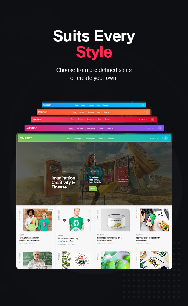 Mixano - Minimal WordPress Theme for Freebies & Blogging - 3