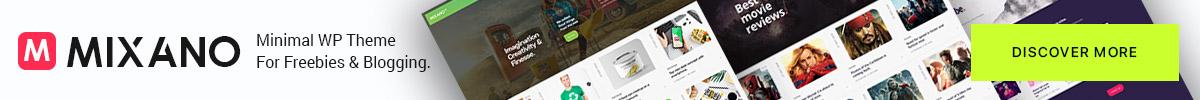 Mixano Minimal WordPress Theme